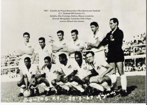 Santos FC com Pelé no Campo do Bosque cópia