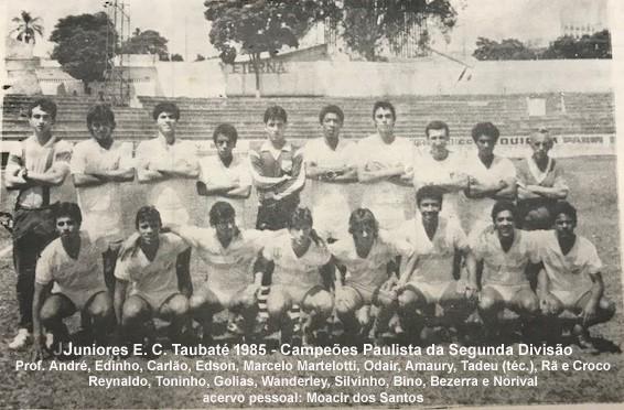 Equipe campeão de 85 no Joaquinzão