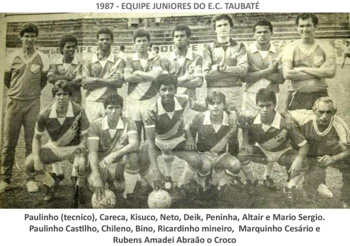 EQUIPE JUNIORES 1987