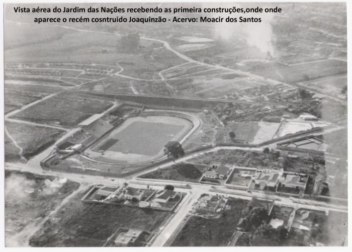 vista aerea do Jardim das nações