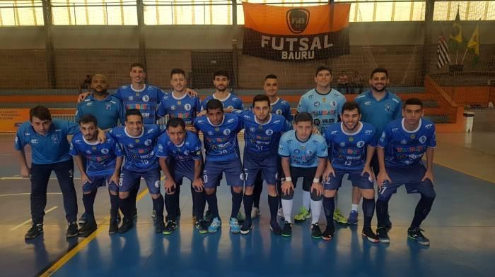 Elenco do Taubaté Futsal que venceu Bauru por 5 a 0 na Copa Paulista (divulgação)