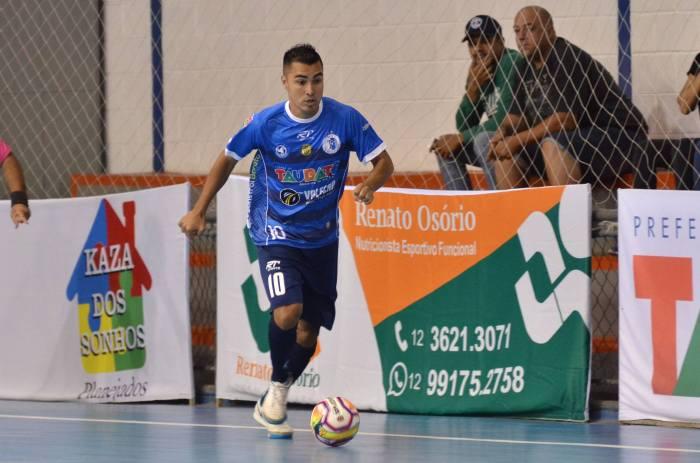 O ala Japa durante vitória contra o Pulo do Gato na estreia da Copa Paulista de Futsal