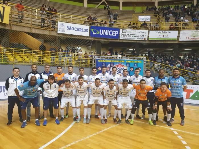 O elenco do Taubaté Futsal que disputou a Copa Paulista 2019 (foto divulgação)