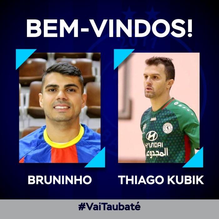 Bruninho e Thiago Kubik estão à disposição do técnico Leandro Reis para a estreia na Liga Paulista de Futsal