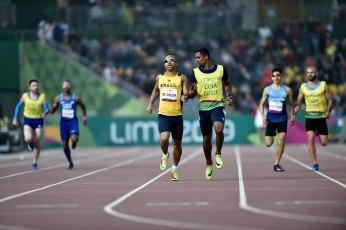 25/08/2019 - Jogos Parapanamericanos Lima 2019 - Atletismo 400m Masculino T11 - Felipe de Souza . ( Credito: Douglas Magno / EXEMPLUS / CPB )