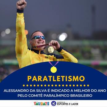 O paratleta Alessandro da Silva, da equipe Esporte Para Todos, da Prefeitura de Taubaté,