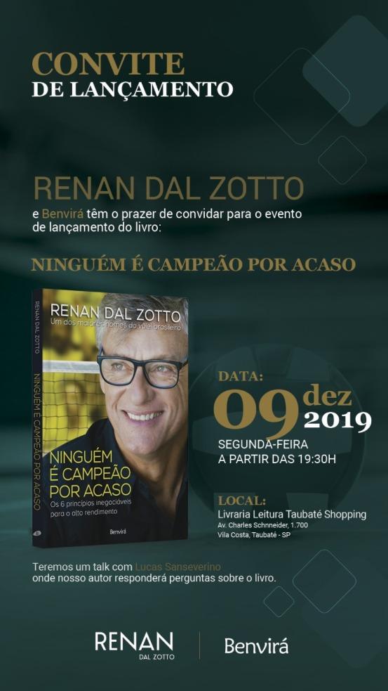 Convite lançamento livro Renan Dal Zotto