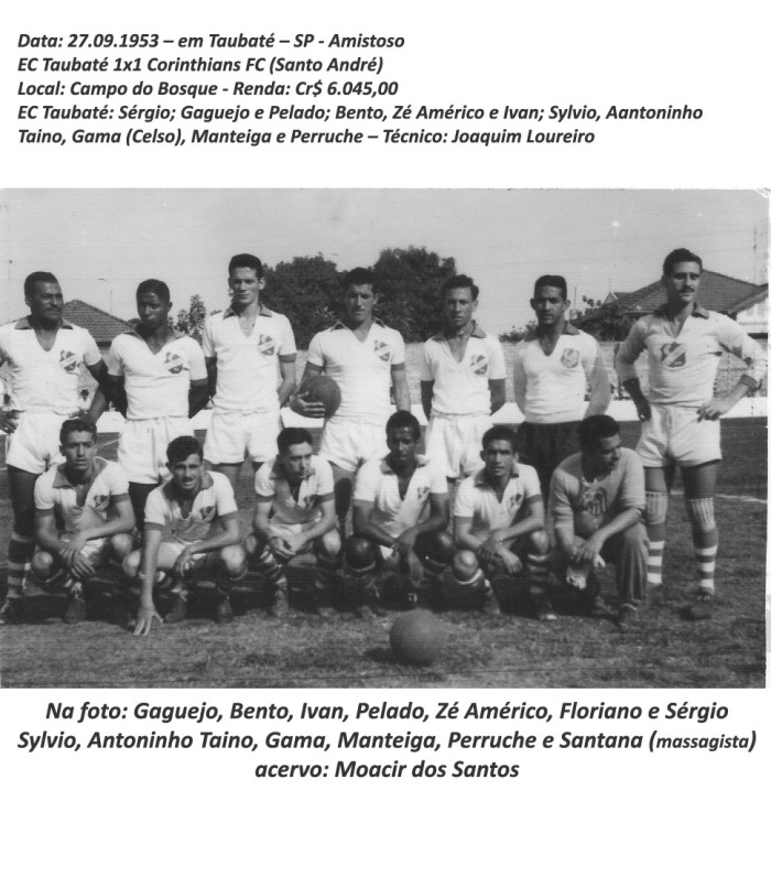 1953 identificado amistoso contra o Corinthians de Santo André