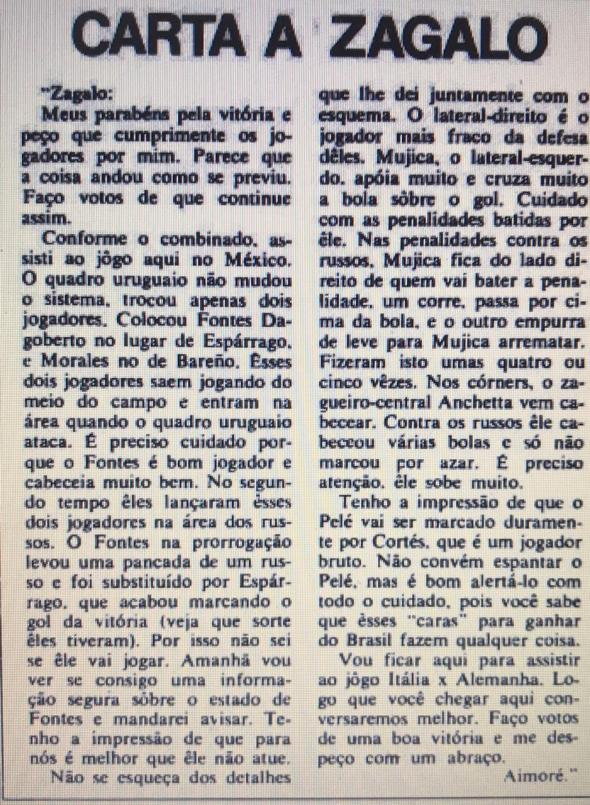 CARTA DE AIMORÉ