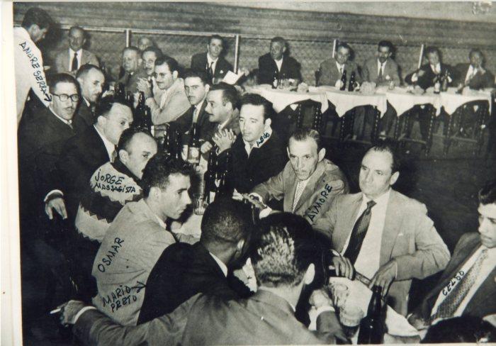 jantar no Taubaté coutry Club,aos atletas do E. C.Taubaté após excursão de 1959